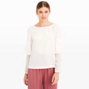 Club Monaco | NWT Aczib Flutter Sleeve Top